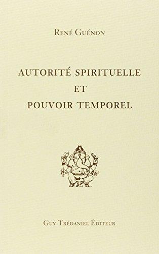 9782857071426: Autorit� spirituelle et pouvoir temporel (Articles Sans C)