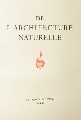 9782857072980: Architecture naturelle (de l') (Esotérisme)
