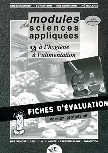 9782857082231: SCIENCES APPLIQUEES A L'HYGIENE ET A L'ALIMENTATION.VERSION PROF AVEC CORRIGES