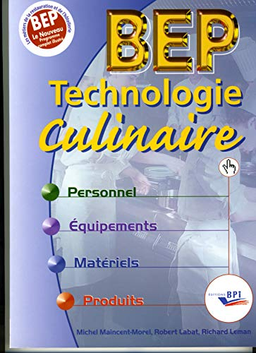 9782857083412: Technologie culinaire BEP