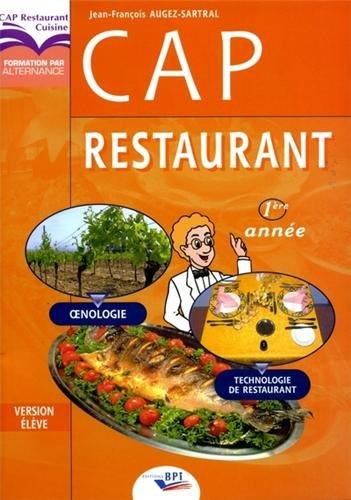 9782857083511: CAP Restaurant : Version élève