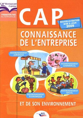 9782857084655: CAP Connaissance de l'entreprise et de son environnement