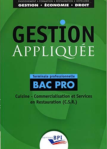 9782857085126: Gestion appliquée Bac Pro Terminale professionnelle
