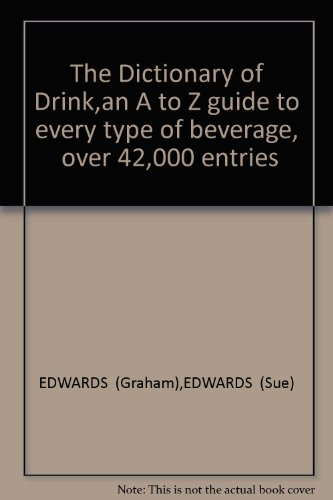 9782857250340: Dictionary of Drink