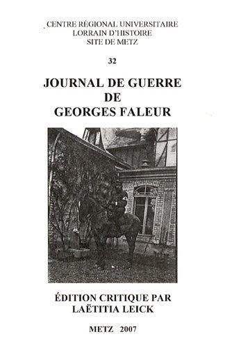9782857300366: Journal de guerre de Georges Faleur