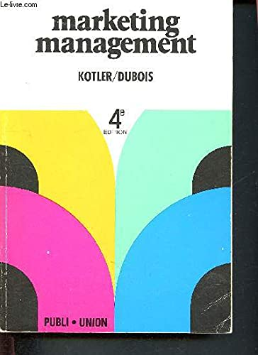 Marketing management: Philip Kotler et