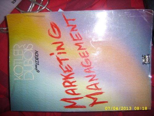 9782857900399: Marketing management