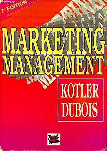 9782857900757: Marketing management