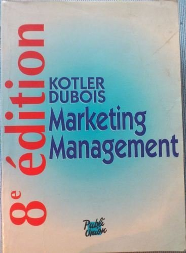 livre marketing management kotler dubois