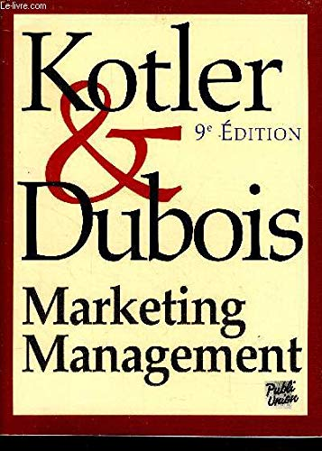 Marketing management: Bernard Dubois, Philip