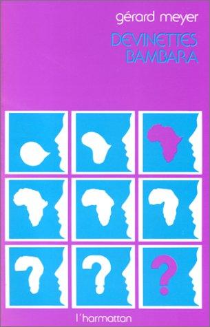 9782858020485: Devinettes bambara
