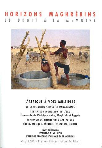 9782858168026: Horizons maghr�bins, N� 53/2005 : L'Afrique � voix mulitples