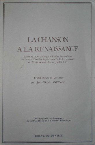 9782858680672: La Chanson � la Renaissance