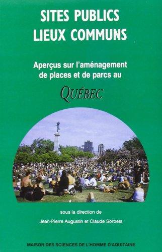 9782858922727: Sites publics, lieux communs