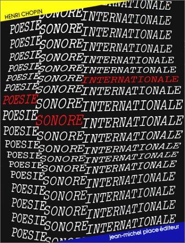 9782858930326: Poésie sonore internationale