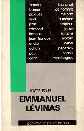 9782858930333: Textes pour Emmanuel Lévinas (Collection Surfaces) (French Edition)