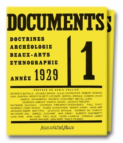 9782858931460: Documents N° 1 à 7, 1929 et N° 1 à 8, 1930 en 2 volumes (Les cahiers de gradhiva)