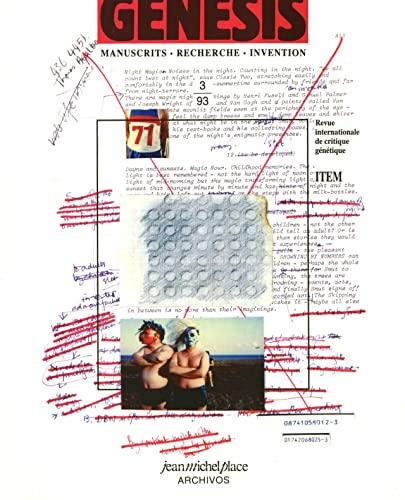 9782858931781: Revue Genesis, n°3
