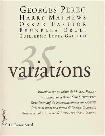 35 variations: Perec, Georges