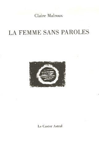 9782859206673: La femme sans paroles (French Edition)