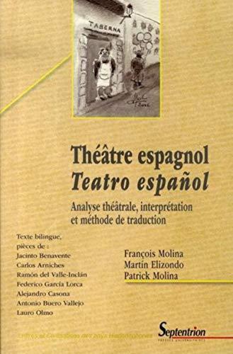 Théâtre espagnol analyse théâtrale, interprétation et méthode: Elizondo, Martín; Molina,