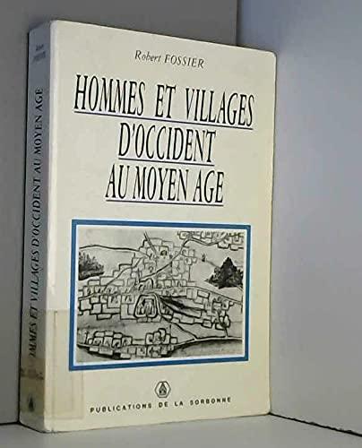 9782859442248: Hommes et villages d'Occident au Moyen Age