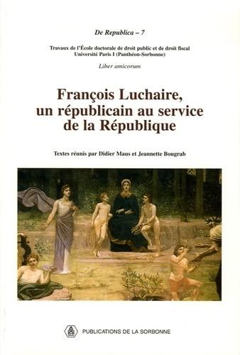 François Luchaire, un républicain au service de la Ré...