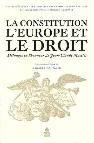 Constitution l'Europe et le droit: Chahir Boutayeb
