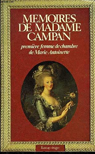 9782859560959: Memoires de Madame Campan, premiere femme de chambre de Marie-Antoinette (Ramsay image) (French Edition)