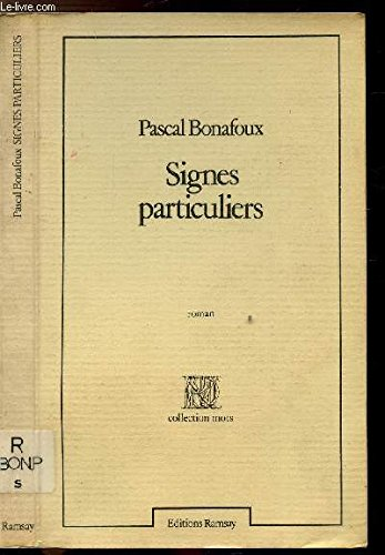 9782859561666: Signes particuliers: Roman (French Edition)