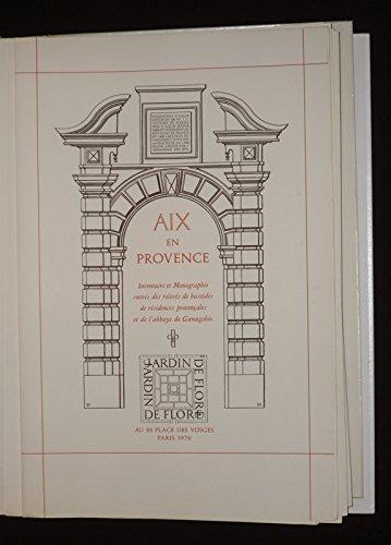 9782859670009: Aix-en-Provence