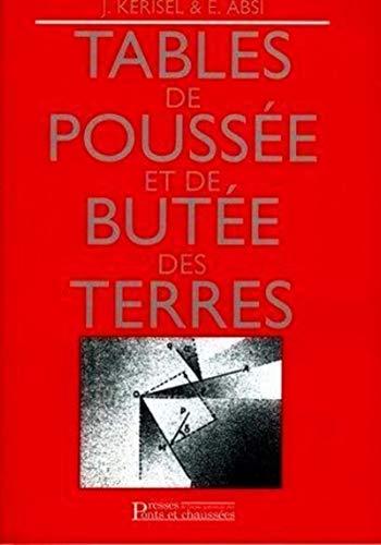tables de poussee et de butee des terres: E Absi, Jean Kerisel