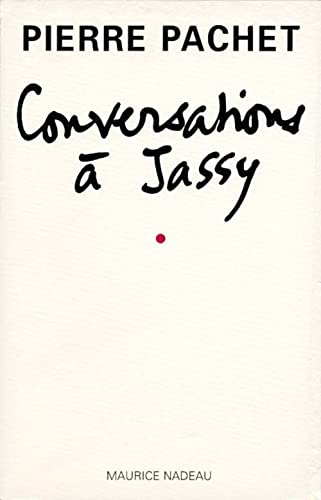 9782862311418: Conversations à Jassy (French Edition)