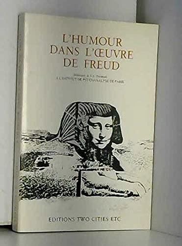 9782862350066: L'Humour dans l'oeuvre de Freud : Séminaire de S. A. Shentoub