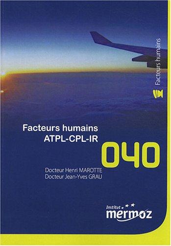 9782862480602: Facteurs humains ATPL-CPL-IR