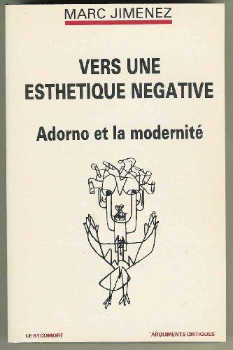 9782862622156: Vers une esthétique négative