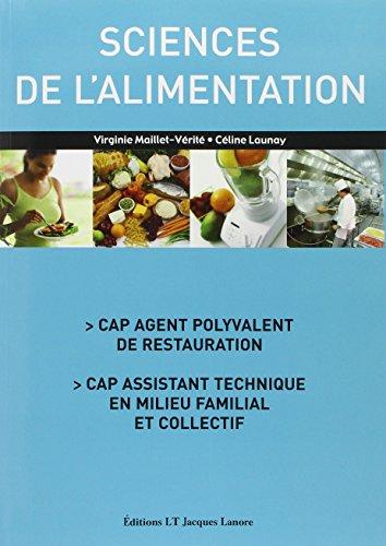 9782862683348: Sciences de l'alimentation CAP agent polyvalent de restauration, CAP assistant technique en milieu familial et collectif