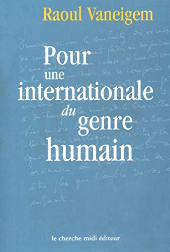 9782862746708: Pour une internationale du genre humain