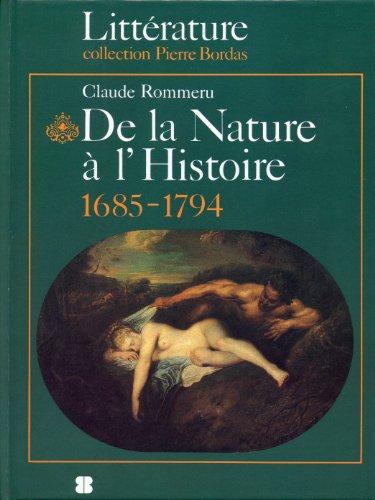 9782863111338: De la nature à l'histoire, 1685-1794