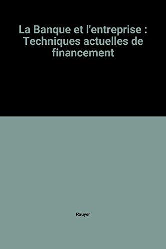 9782863251980: La Banque et l'entreprise : Techniques actuelles de financement