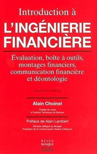 Introduction à l'ingénierie financière : Evaluation, boîte à...