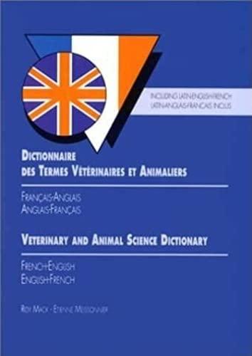 9782863260869: Dictionnaire des termes v�t�rinaires et animaliers fran�ais-anglais, anglais-fran�ais