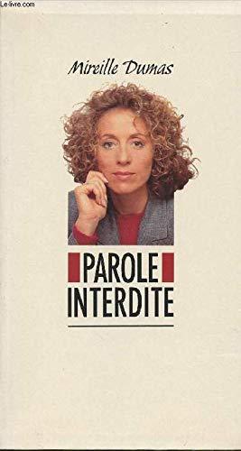 9782863915912: Parole interdite (French Edition)