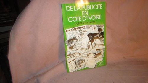 9782863941294: De la publicite en Cote-d'Ivoire (French Edition)