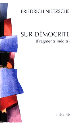 9782864240877: Sur D�mocrite (Fragments in�dits)