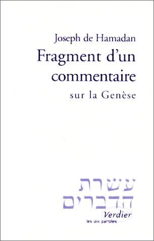 9782864322924: Fragment d'un commentaire sur Gen�se