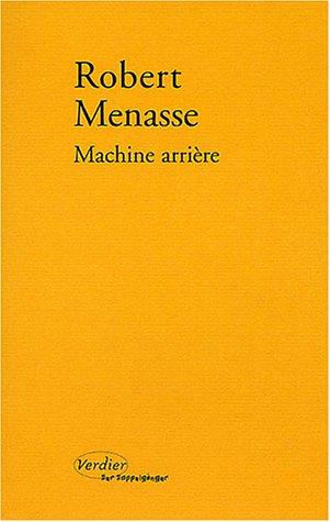 9782864323921: Machine arrière