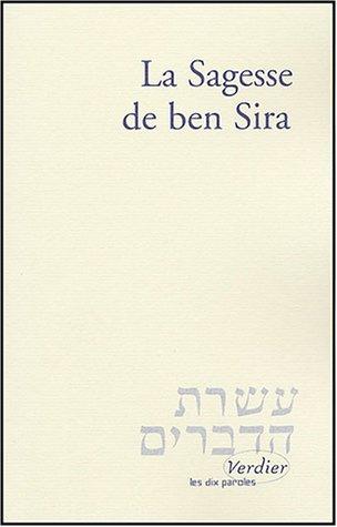 9782864323945: La Sagesse de Ben Sira