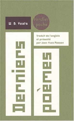 9782864325581: Derniers poèmes (1936-1939) : Edition bilingue français-anglais (Verdier Poche)