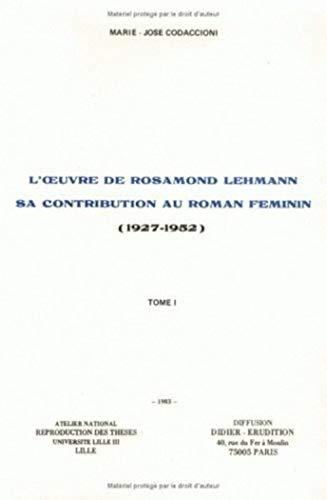 9782864600275: L'Oeuvre de Rosamond Lehmann tome 2